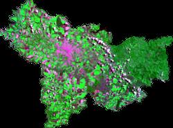 Mosaico de imagens CBERS2 - 2004