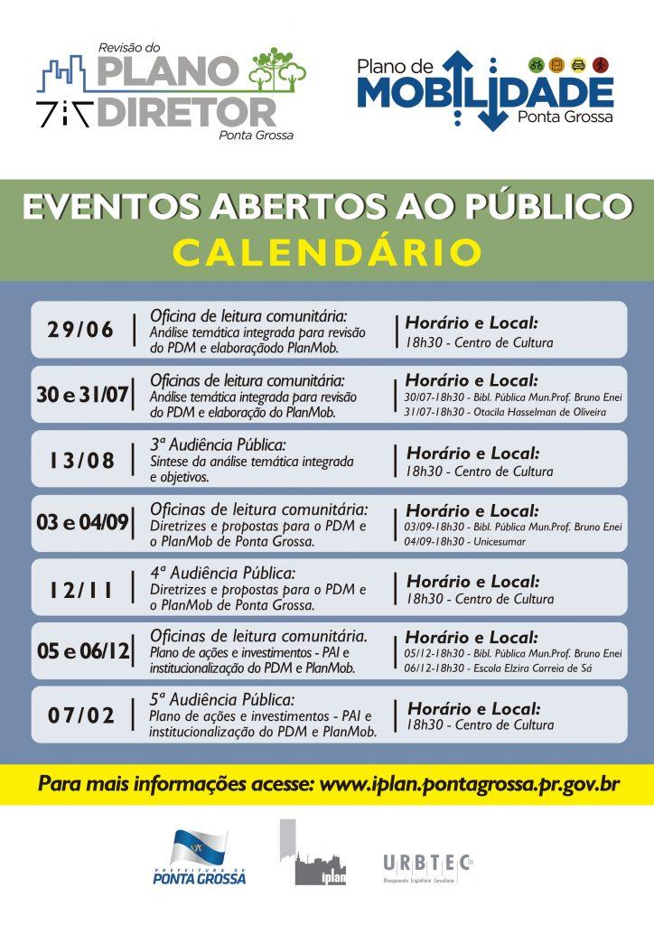 Cartaz PDM e PlanMob Ponta Grossa